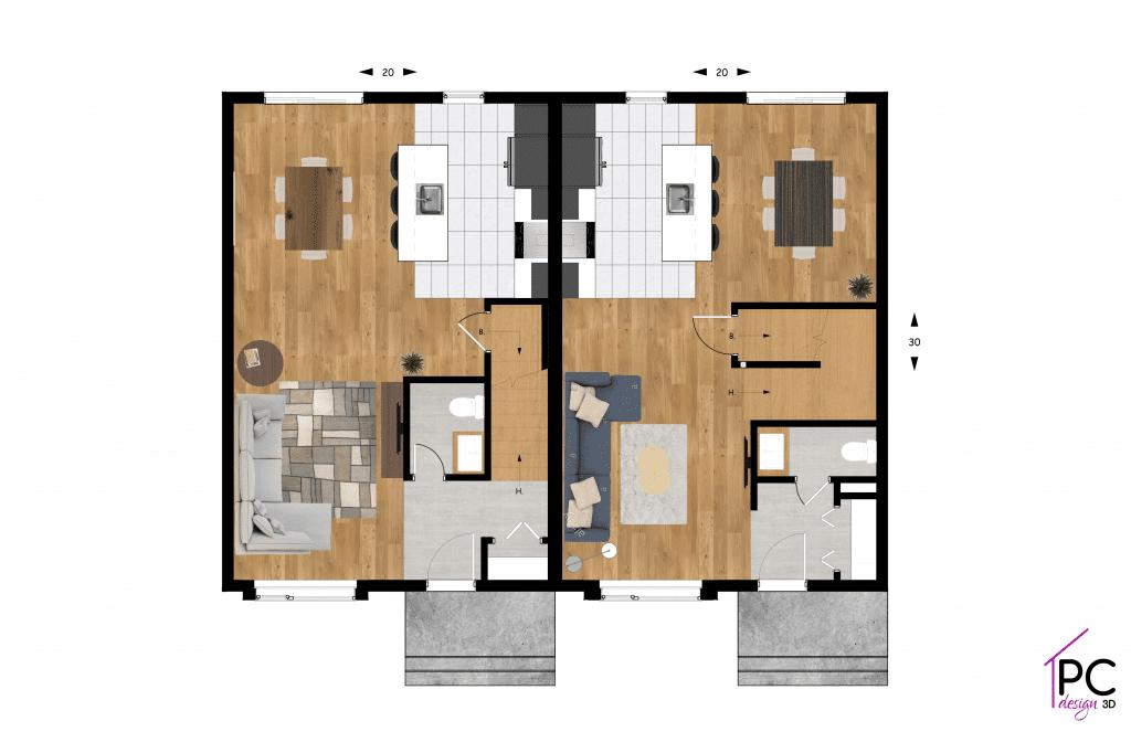 plan-du-rez-de-chausse-Construction-residentiel